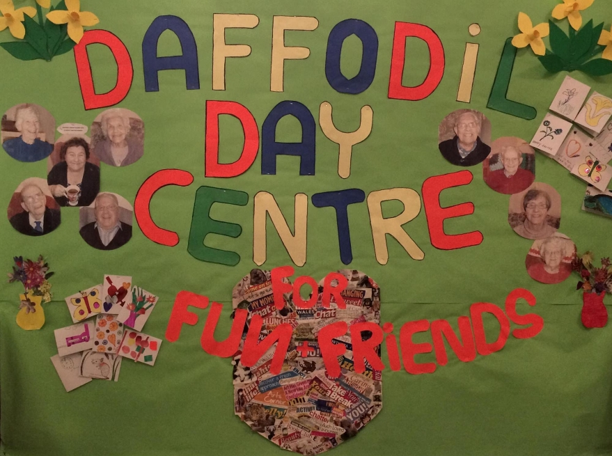 Poster made by clients of Daffodil Day Centre