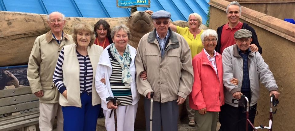 older people on a day out