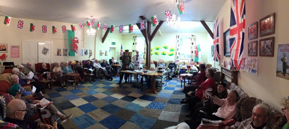 Older people celebrating VE Day